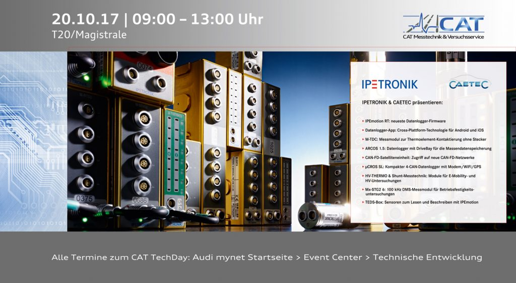 CAT TechDay Nr. 212, IPETRONIC GMbH Co. KG und CETEC GmbH